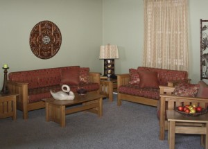 Artisan Living Room Honey Pine