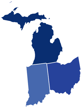 Amazing Map Of Michigan And Indiana Ideas - Printable Map - New ...