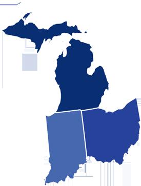 Michigan And Ohio Map.Michigan Ohio Indiana Furniture Crate Yourfurnituresolutionsllc Com