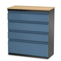 Steel 4 drawer chest