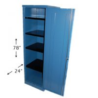 Steel Single Wardrobe with shelved